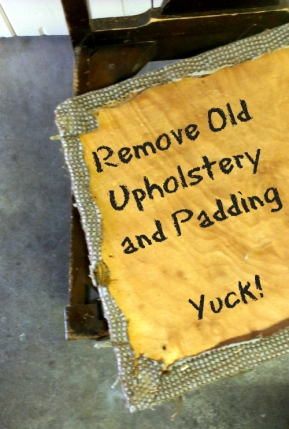 Step Three Remove Old Upholstery to Avoid Bed Bugs