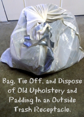 Step Three Dispose of Old Upholstery and Bed Bugs
