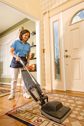 Friendly Maid Vacuuming