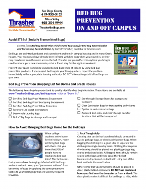 Download our FREE Guide to Bed Bug Prevention On and Off Campus